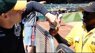 Friendliest security guard EVER at the Oakland Coliseum thumbnail