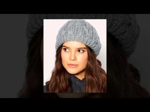 Модные шапки вязаные спицами. Женские вязаные шапки