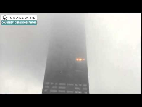 Raw video: Fire breaks out at John Hancock building in Chicago