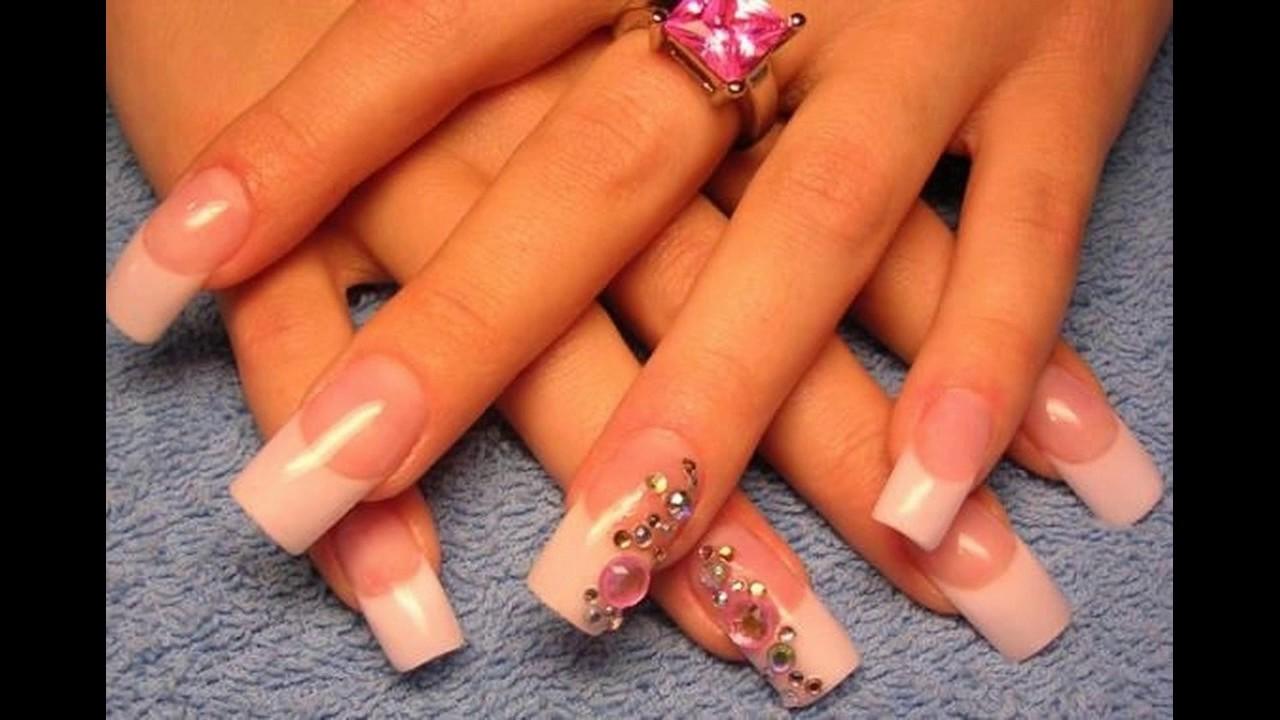 Francés uñas decoradas ideas elegantes y sencillas - YouTube