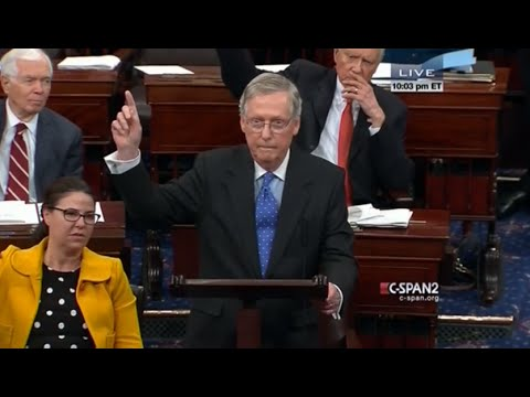 McConnell Refuses To Allow Debate On Amendments