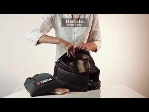 Сумка - рюкзак из натуральной кожи BPJ05
