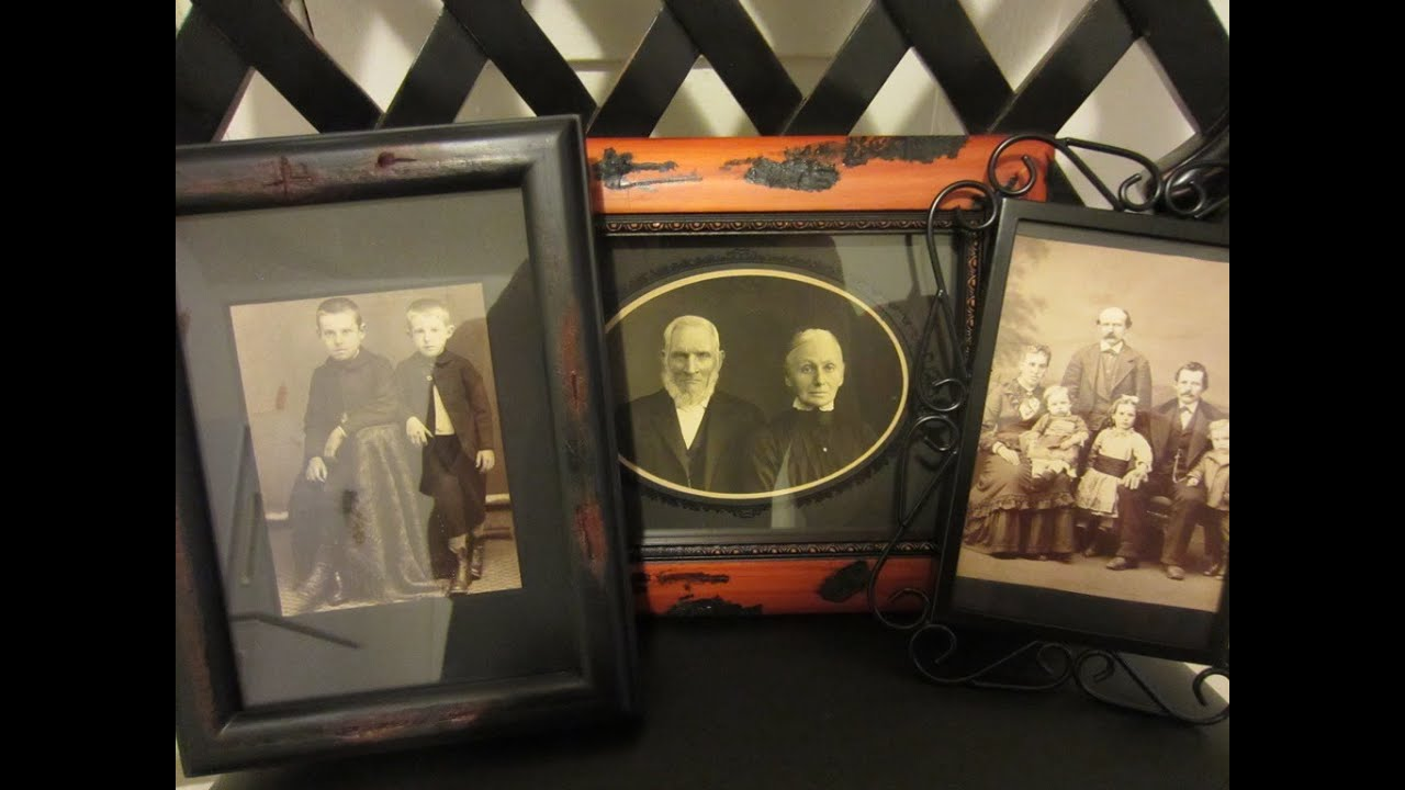 Gothic home decor and halloween ideas gothifyng your home gothic home decor and halloween ideas gothifyng your home picture frames old victorian photos youtube jeuxipadfo Choice Image