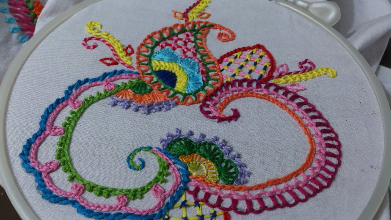 Hand embroidery designs basic stitches design for