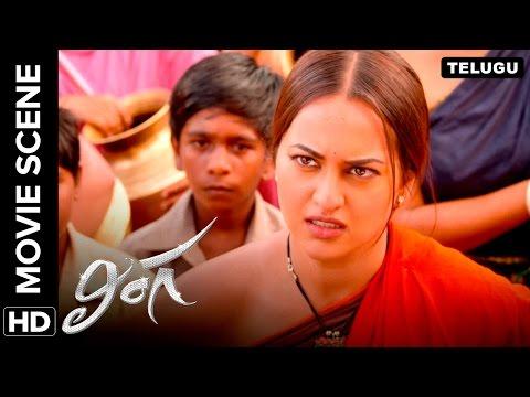 Rajinikanth likes Sonakshi's innocence   Lingaa Movie Scene