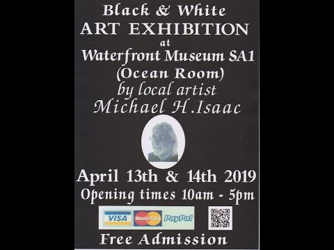 Mike Issac Black & White Art Exhibition Waterfront Museum Swansea