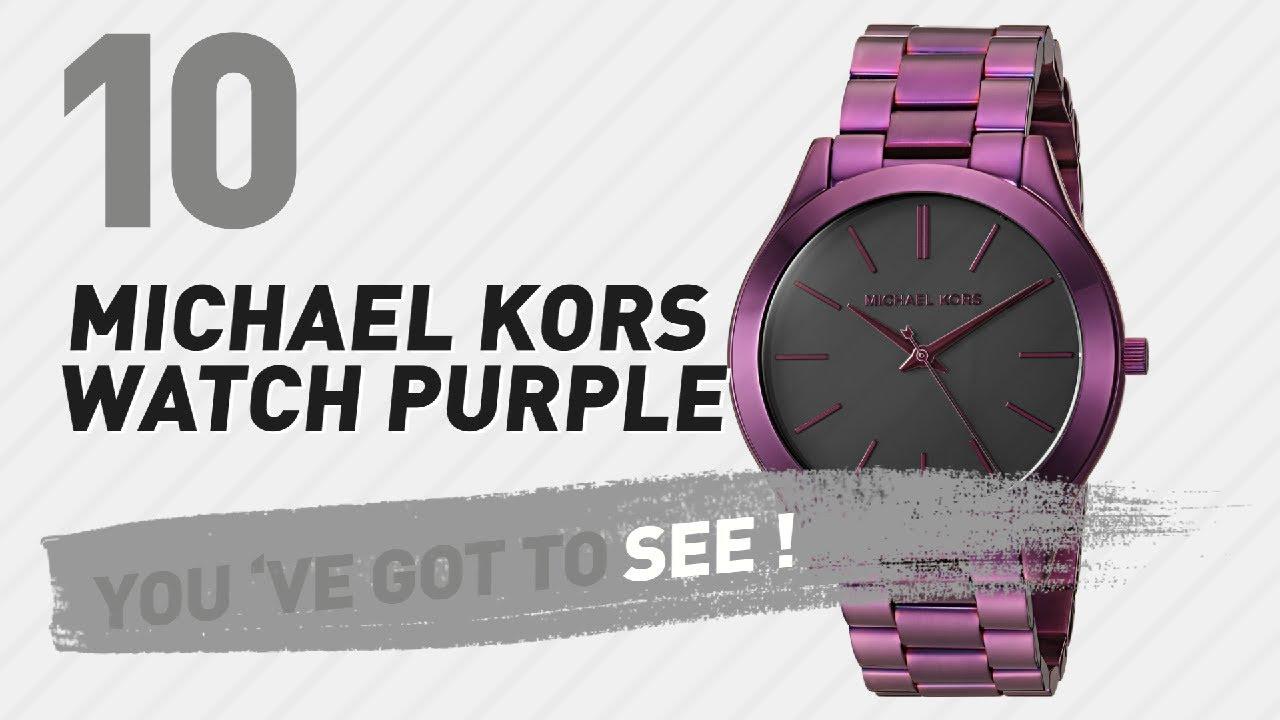 de7214b2478f Michael Kors Watch Purple    New   Popular 2017 - YouTube