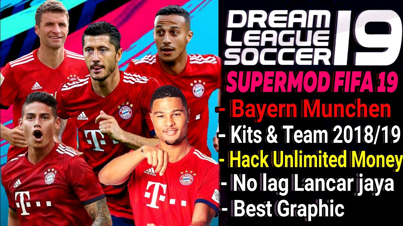 Download Dream League Soccer 18 mod Bayern Munchen | New Kits & Squad 2018  | Hack Unlimited Money