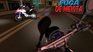 GTA SAN ANDREAS - MOTOVLOG VIDA REAL #29 - FUGA DE MEIOTA NA ROCAM E DEU RUIM 😢