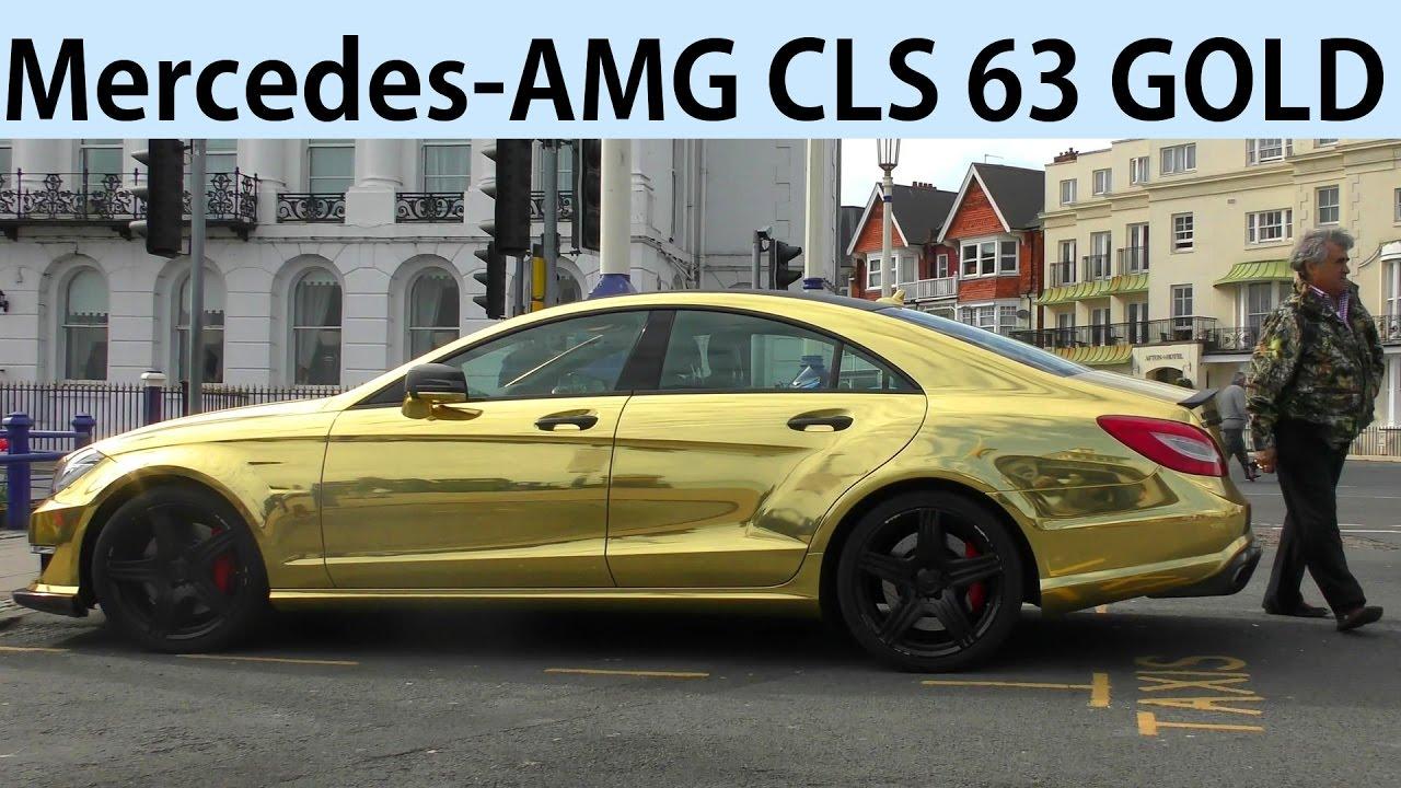 Goldener AMG! Sheikh Abid Gulzar's GOLDEN Mercedes-AMG CLS 63 V8 -  Eastbourne Pier