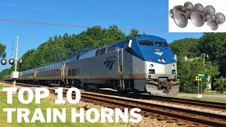 Top 10 Train Horns of All Time [HD]