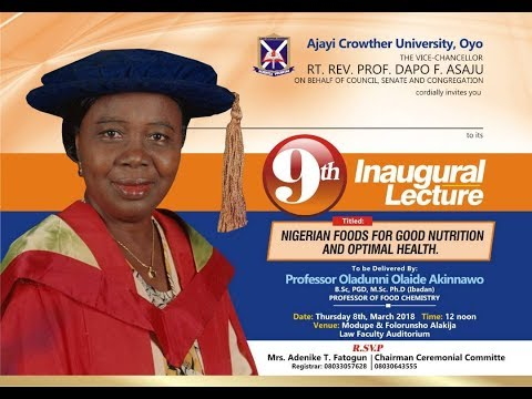 9th Inaugural Lecture of Ajayi Crowther University, Oyo | Live Stream