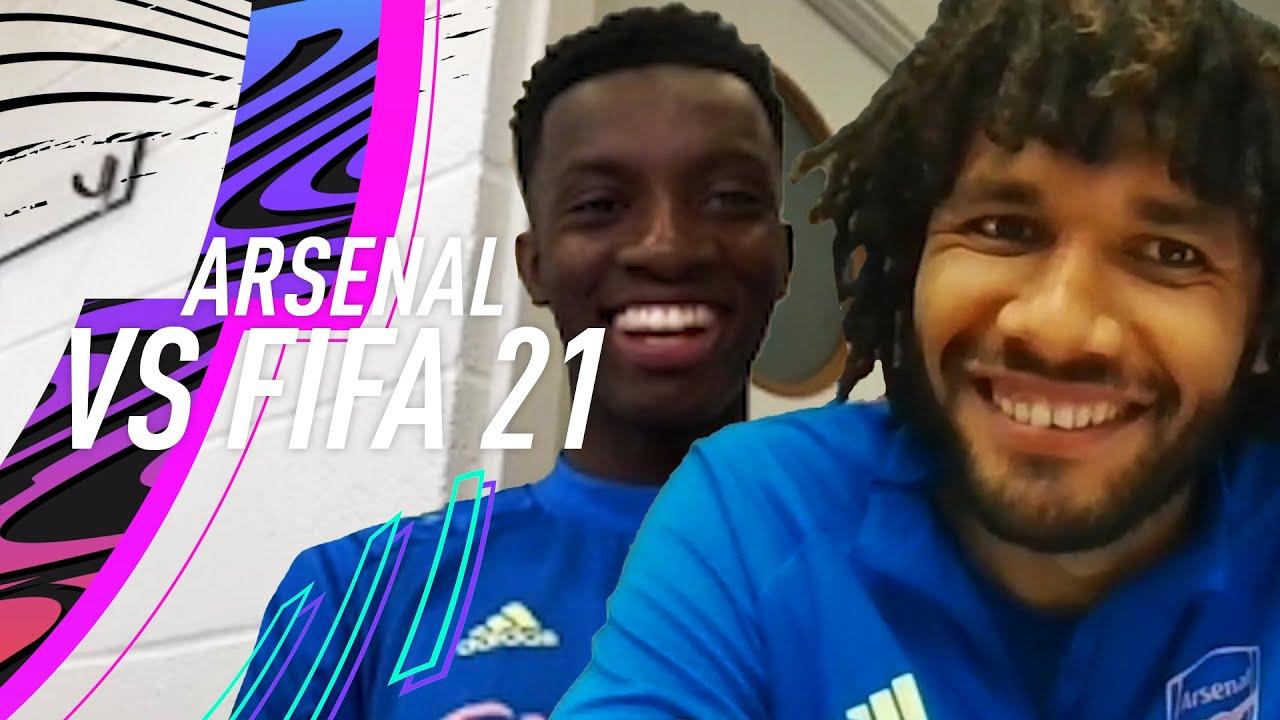 Who is the FASTEST player at Arsenal? ⚡  Nketiah & Elneny vs FIFA 21