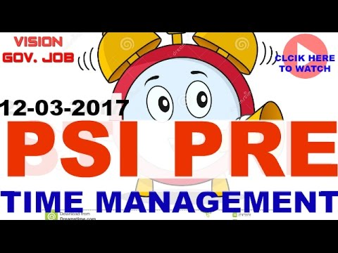 || Time Management || PSI Exam || very important follow this method ||