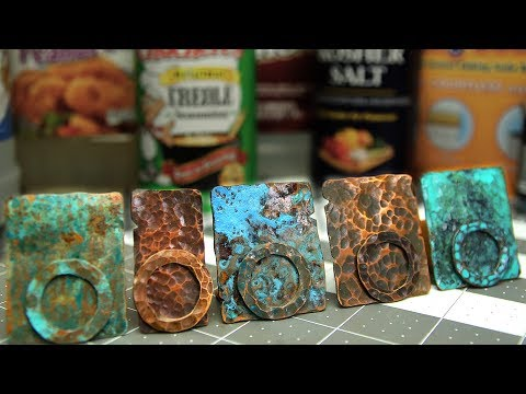 Copper Patinas - How To Patina Copper Metal - Five Recipes - Verdigris, Liver of Sulphur, Vinegar