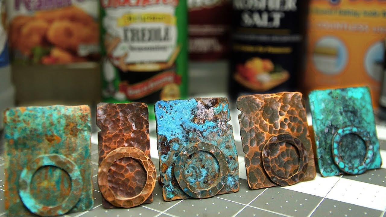 Download Copper Patinas - How To Patina Copper Metal - Five Recipes - Verdigris, Liver of Sulphur, Vinegar