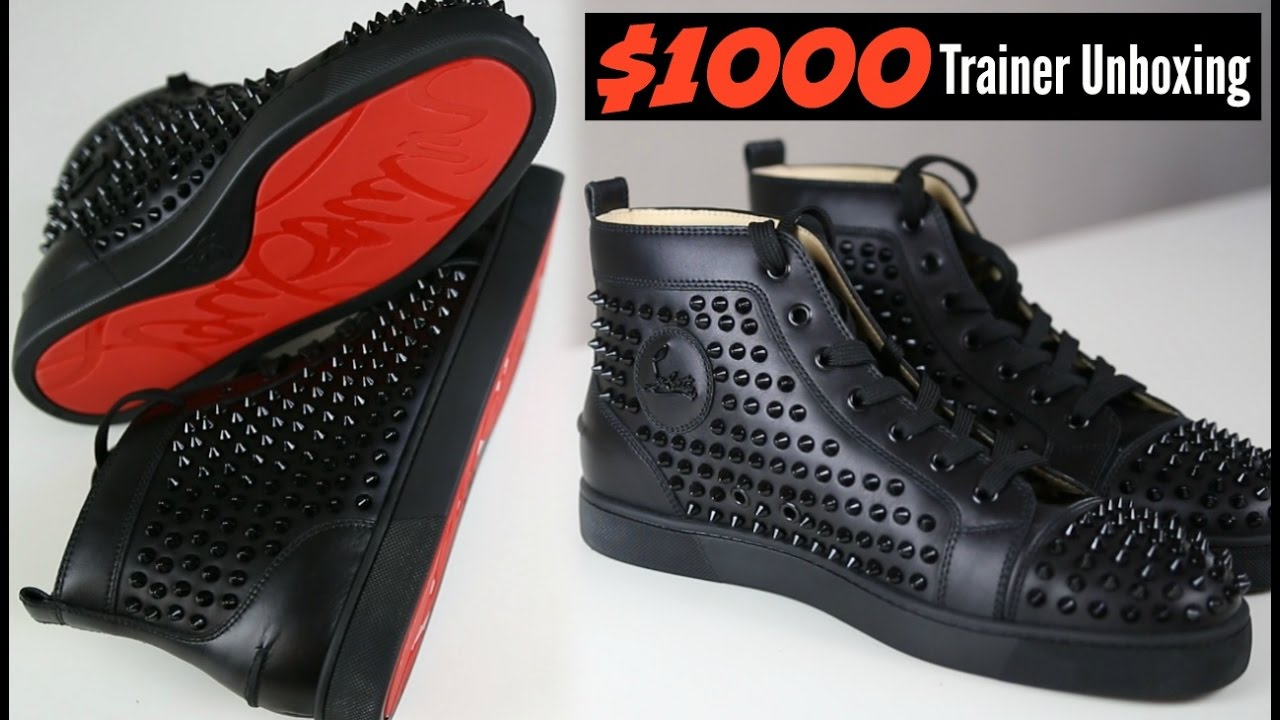 separation shoes 2936d c87ed Christian Louboutin $1000 Dollar Trainers Unboxing - Mens Fashion 2019
