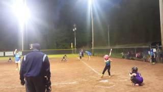 6 year old home run in 8u softball
