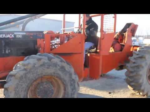 Timberjack 230 cable skidder demo - YouTube