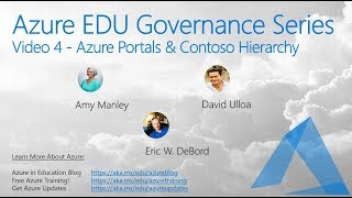 Azure Education Governance Series -4- Azure Portals and Demos
