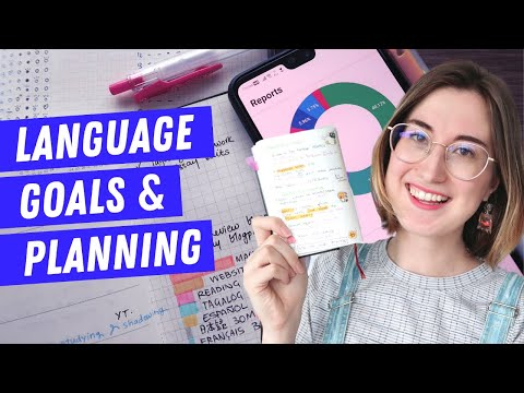 How I use my language journal   Language goals update & plan with me 📝