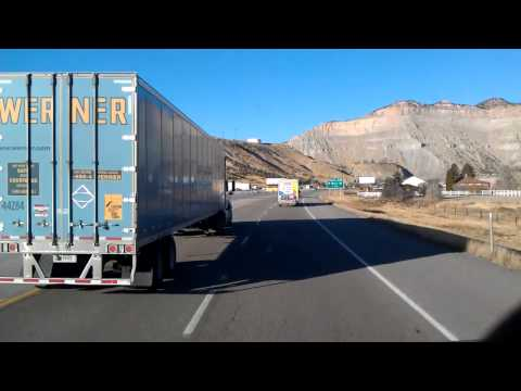 Running through Price, Utah on US Highway 6