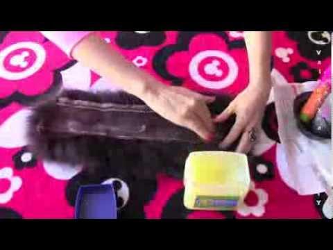 Как покрасить песцовый воротник в домашних условиях