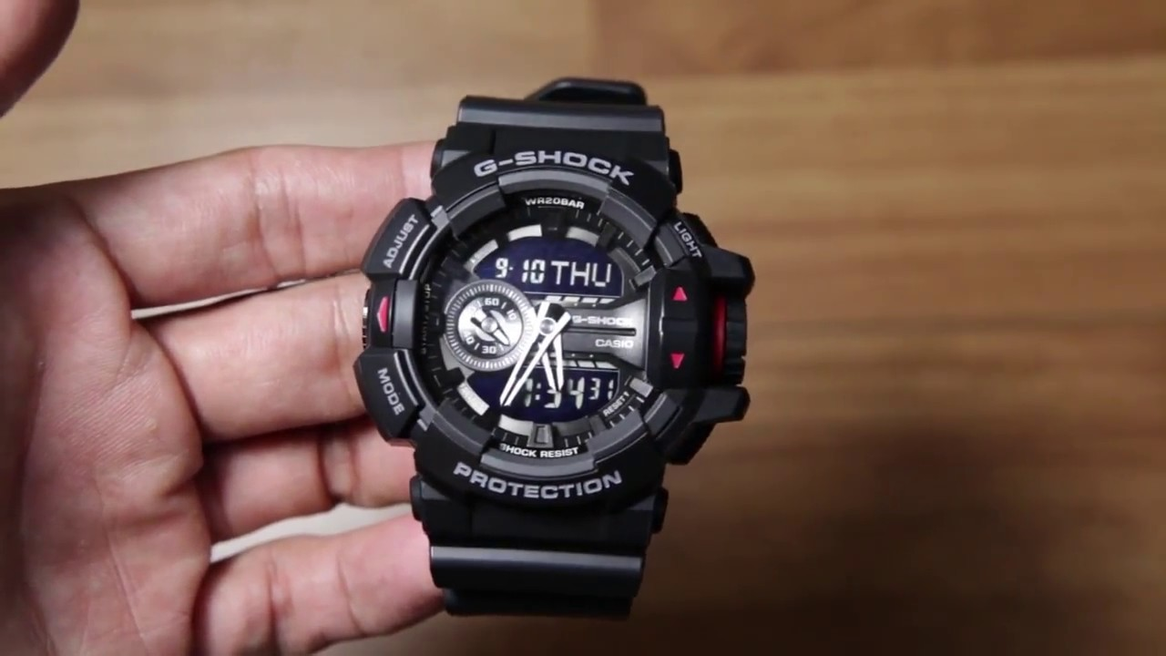 Casio g shock ga 400 1b black edition youtube for Aufstellpool 400 x 120