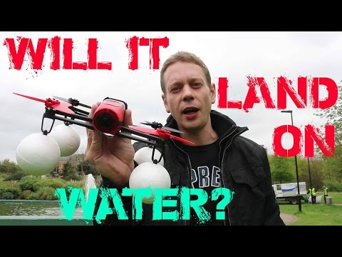 Parrot Bebop - Can I Land this Drone on Water? Epic Fail??