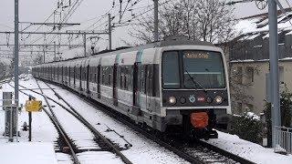RER B sous la neige