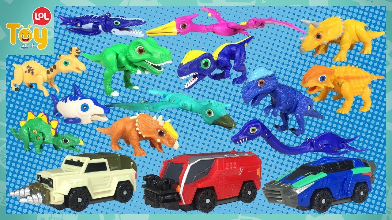 공룡메카드가 나타났어요 타이니소어 13종 메카니멀 변신 자동차 어린이 장난감 토이롤