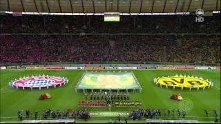 Dortmund - Bayern DFB-Pokal Finale 2014 Vorbericht und Einlauf HD