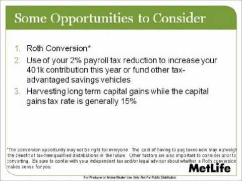 Planning Opportunities Under The Tax Relief Act of 2010 (Part 2 or 4)