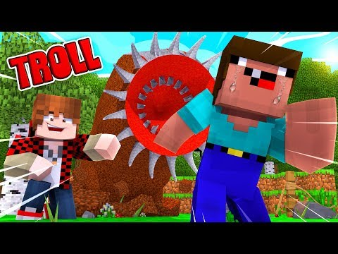 TROLLING A BIG YOUTUBER WITH THE UNKILLABLE BOSS! (Minecraft Impossible Prison Challenge!)