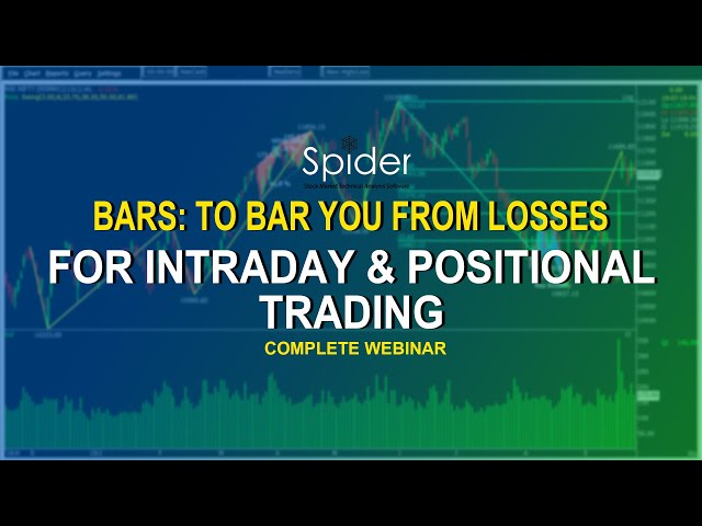 Bars- To Bar You from Losses | Trading Strategy Webinar by Mr. Vinod | Spider Software
