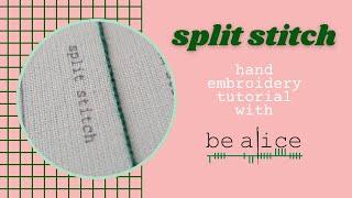 Split Stitch Tutorial
