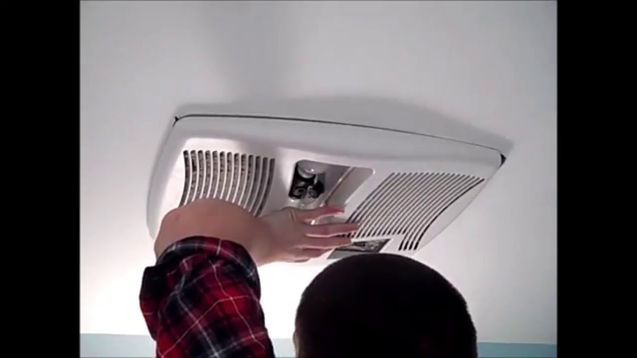 How to replace the heater element on a nutone broan fan light heater combo unit youtube