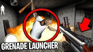 *NEW* Grenade Launcher in Granny Horror Game... BLOWING UP GRANNY!