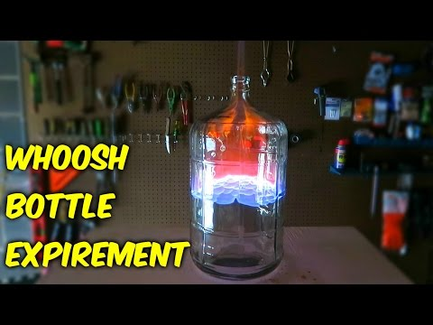 Giant Whoosh Bottle Experiment with 70% and 95% Alcohol