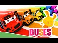 NEW!  Learn the colors with Titounis | Buses!