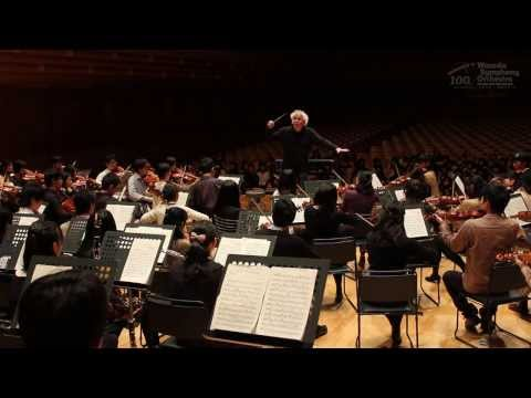 Rehearsal with Sir Simon Rattle (Bruckner / Sinfonie Nr.7 E-Dur)