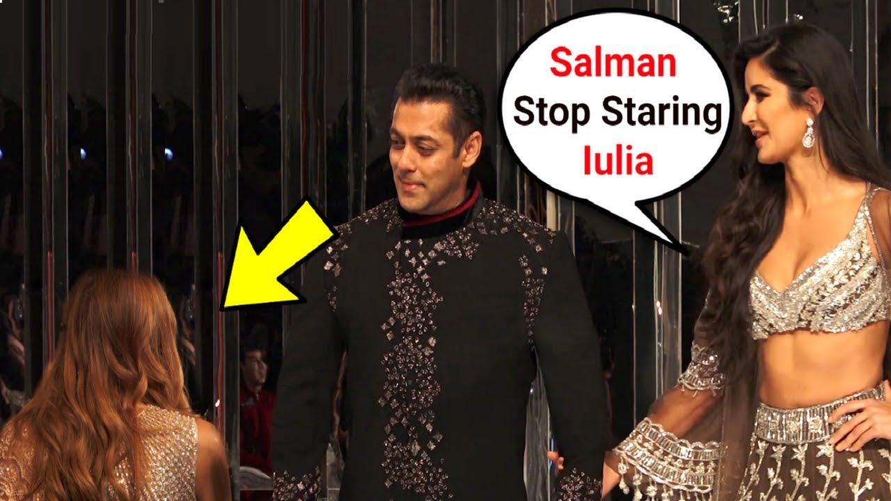 Katrina Kaif Angry On Salman Khan For Staring At lulia Vantur At Manish Malhotra Fashion Show 2018