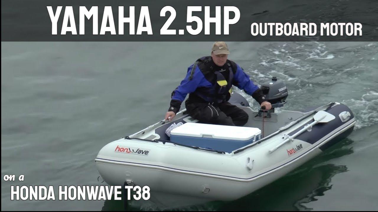 Honda Honwave T38 & Yamaha 2 5 HP Outboard Motor
