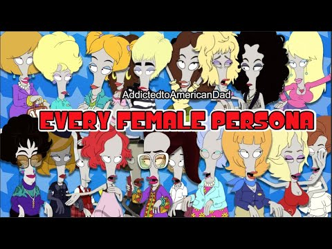 American Dad - Every Roger Female Persona