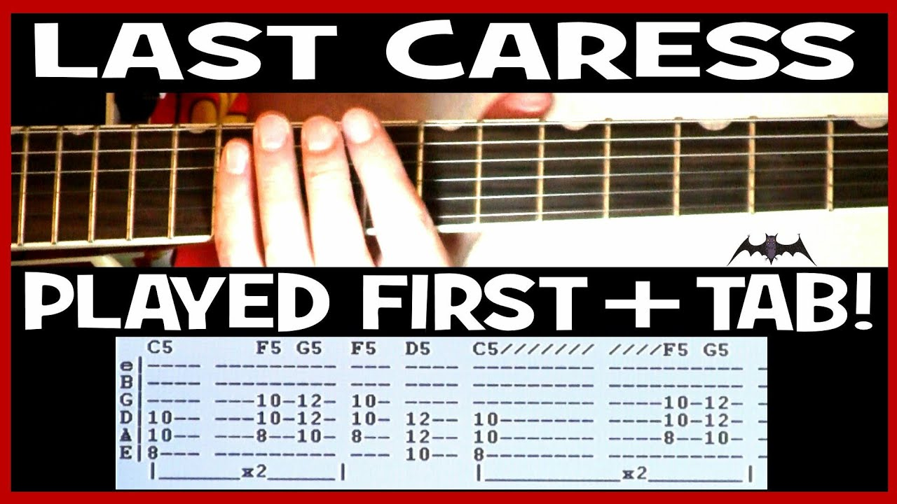 Misfits Last Caress Guitar Chords Lesson & Tab Tutorial   by Danzig & Cover  by Metallica