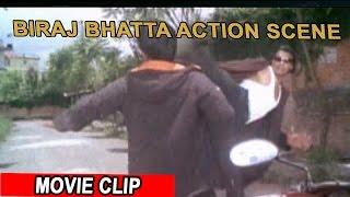 Biraj Bhatta Action Scene | बिराज भट्ट |  Nepali Movie | Timi Bina ko Jeevan
