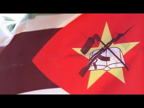 Mozambique Flag Weather Beaten - Royalty Free HD Stock Footage