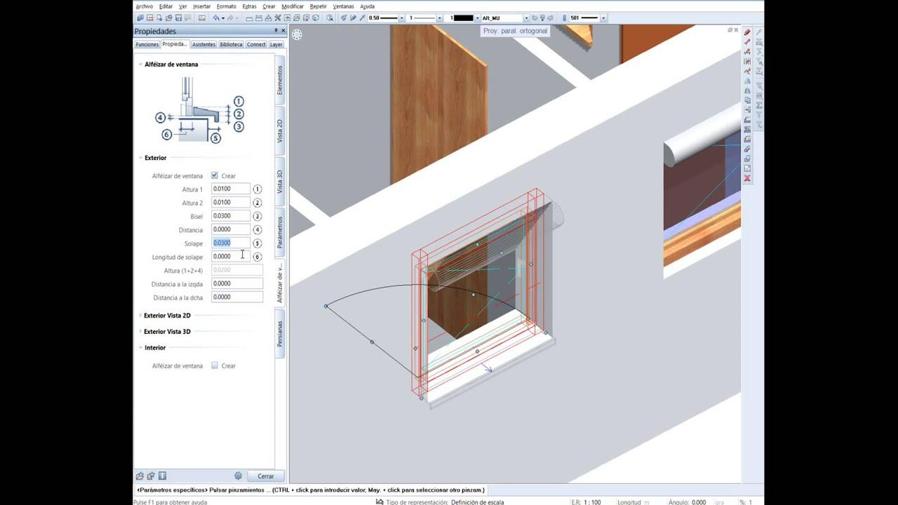 Allplan Tips Modelar Smartpart De Ventana Con Alf 233 Izar