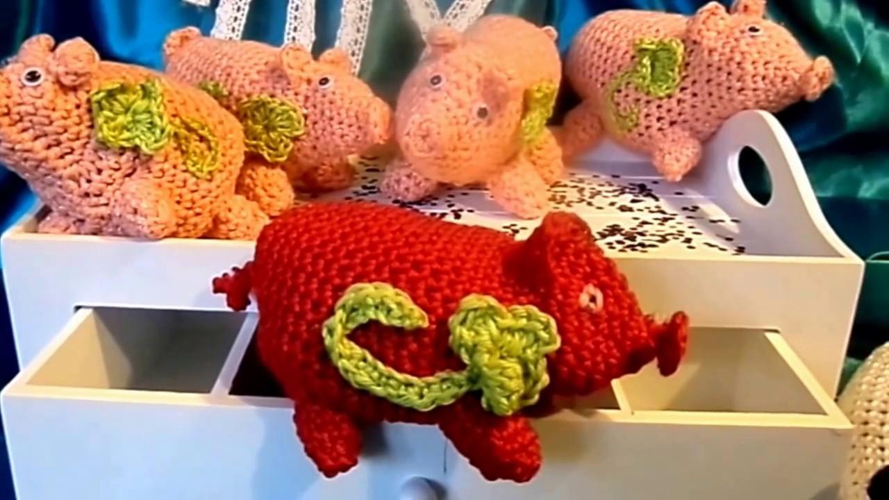 Diy Kirschkern Säckchen Schweinchen Häkeln Glücksbringer Selber