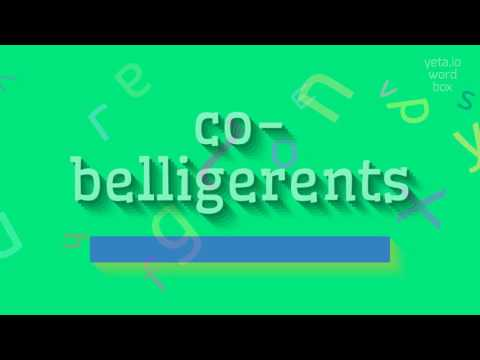 "How to say ""co-belligerents""! (High Quality Voices)"